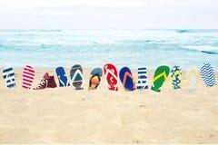 flip zaworów plażowych obrazy royalty free