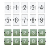 Flipboard-Zähler-Zahl Stockfoto