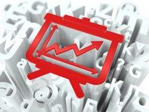 Flipchart on Alphabet Background. Stock Images