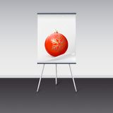 Flipchart with a Christmas ball on it Stock Image