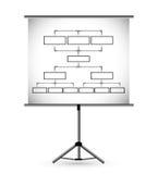 Flipchart in classroom illustration design Stock Images