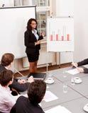 Flipchart de présentation de réunion d'affaires Photos stock