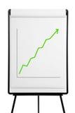Flipchart - desempenho acima Imagens de Stock Royalty Free