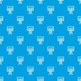 Flipchart with marketing data pattern seamless blue Royalty Free Stock Image