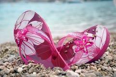 flipen plumsar pink Arkivfoto