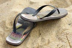 Flipflop παπούτσια Στοκ εικόνα με δικαίωμα ελεύθερης χρήσης