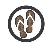 Flipflop und Pantoffel stock abbildung