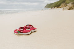 FlipFlops on beach in Bali, Indonesia Stock Image