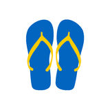 Flipflops - Set of simple flipflops Royalty Free Stock Photography