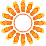 Flipflops Sun Stockfotografie