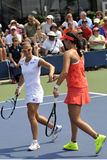 Flipkens and Robson US Open 2015 Royalty Free Stock Photography