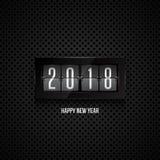 Flipklocka för lyckligt nytt år 2018 Arkivfoto