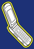 flipmobiltelefon Arkivfoton