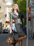 Flippant city woman royalty free stock photos