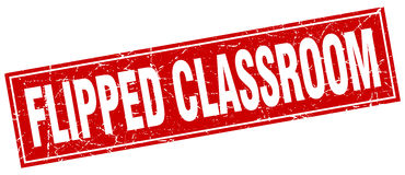 Flipped classroom square stamp Royalty Free Stock Photo