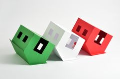Flipped houses Stock Photography
