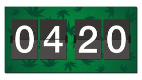 420 flipper clock - burn time Royalty Free Stock Photo