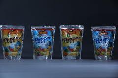 Flipper Rio d`oro fruit flavored drink for children Stock Image