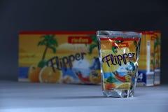Flipper Rio d ` oro owoc doprawiał napój dla dzieci obrazy stock