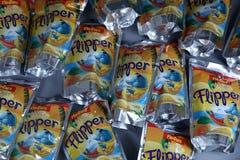 Flipper Rio d ` oro owoc doprawiał napój dla dzieci obraz royalty free