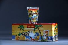 Flipper Rio d ` oro owoc doprawiał napój dla dzieci zdjęcie stock