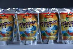 Flipper Rio d ` oro owoc doprawiał napój dla dzieci fotografia royalty free