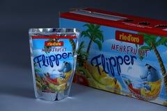 Flipper Rio d ` oro owoc doprawiał napój dla dzieci fotografia stock
