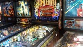 Flipperautomat-Zauberer stockbild