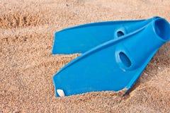 flippers błękitny para zdjęcie stock