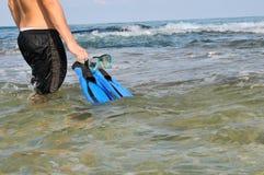 flippers maska Obrazy Royalty Free