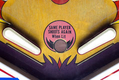 Flippers of a pinball table Stock Images