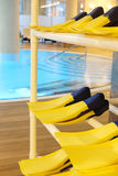 Flippers in a swimming pool. Store of flippers in a swimming pool Royalty Free Stock Image
