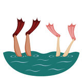 Flippers up! stock illustration