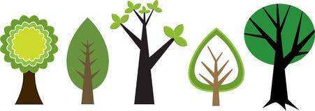 Flippige Bäume stock abbildung