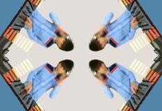 Flippige Frau DJ kopieren Stockbild