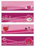 Flippige rosafarbene Fahnen Stockbild