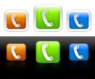 Flippige Telefonikonen oder -tasten Lizenzfreies Stockfoto