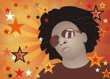 Flippiger Afromann Lizenzfreies Stockfoto
