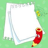 Flippiger Bleistift des Feldes Platz für Ihren Text Stockbilder