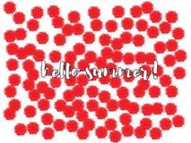 Flippiger Blumenkonfettientwurf lizenzfreie abbildung