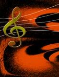 Flippiger Musik-Hintergrund Stockbild