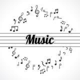 Flippiger Musik-Hintergrund Stockfotografie