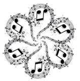 Flippiger Musik-Hintergrund Stockbilder