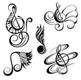 Flippiger Musik-Hintergrund Auch im corel abgehobenen Betrag lizenzfreie abbildung