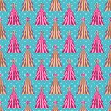 Flippiger und stilisierter Weihnachtsbaum stock abbildung