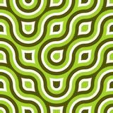 Flippiger wilder Kreis-nahtloses Muster-Kalk-Grün Stockbild