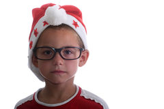 Flippiges Weihnachtskind mit Gläsern Stockbilder