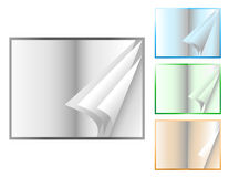 flippiing开放页的书 库存图片