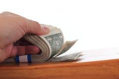 Flipping through the bills Stock Photos