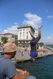 Flipping into the Bosphorus Stock Photos